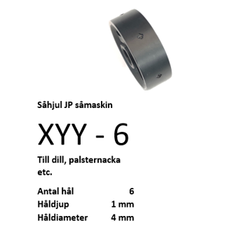 Picture of XYY - 6 Jang såhjul JP